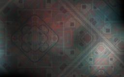 Magischer Hintergrund Grauer Hintergrund mit schönen quadratischen Verzierungen Lizenzfreie Stockfotografie