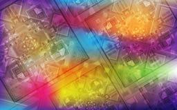Magischer Hintergrund Schillernder Hintergrund des Feiertags mit schönen quadratischen Verzierungen Lizenzfreie Stockfotos