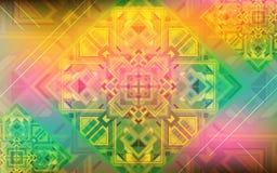 Magischer Hintergrund Schillernder Hintergrund des Feiertags mit schönen quadratischen Verzierungen Stockfoto