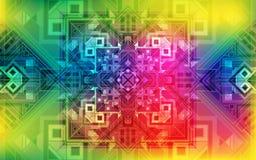 Magischer Hintergrund Schillernder Hintergrund des Feiertags mit schönen quadratischen Verzierungen Stockfotografie