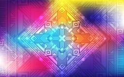 Magischer Hintergrund Schillernder Hintergrund des Feiertags mit schönen quadratischen Verzierungen Lizenzfreies Stockfoto