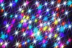 Magischer Hintergrund von glänzenden Sternen lizenzfreie stockbilder