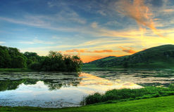 Magischer irischer Sonnenuntergang Stockbild