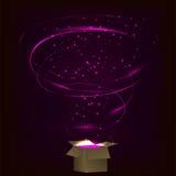 magischer Kasten Magischer Kasten mit Tornadofeuerwerken Stockfotografie