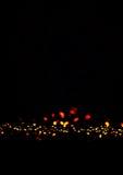 Magischer Nachthintergrund mit funkelnden Lichtern Bokeh Festliches Chri Lizenzfreies Stockbild