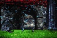 Magischer Park Stockbilder