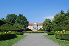 Magischer Park und Abt-Palast in Gdansk - Oliwa Lizenzfreie Stockbilder