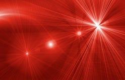 Magischer roter Hintergrund des Sternes Stockfotografie
