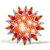 Magischer roter Stern Stockbilder