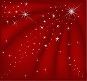Magischer roter Weihnachtshintergrund Stockfotos