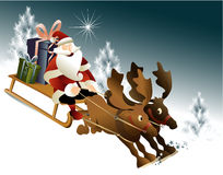 Magischer Santa Claus-Pferdeschlitten Lizenzfreies Stockbild
