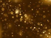 Magischer Schein, Lichtpunkte; Vektorbokeh Effekt stockfotos