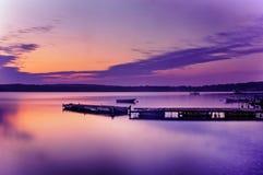 Magischer Sonnenuntergang Stockbilder