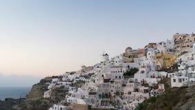 Magischer Sonnenuntergang auf Santorini-Insel, Griechenland stock video