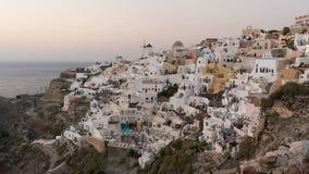 Magischer Sonnenuntergang auf Santorini-Insel, Griechenland stock footage