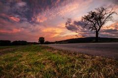 Magischer Sonnenuntergang und starke Wolken Stockfoto