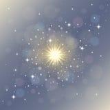 Magischer stardust Zusammenfassungshintergrund Stockfotografie