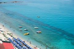 Magischer Strand in Tropea, Kalabrien Lizenzfreies Stockbild
