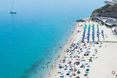 Magischer Strand in Tropea, Kalabrien Lizenzfreies Stockfoto