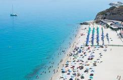 Magischer Strand in Tropea, Kalabrien Lizenzfreie Stockbilder
