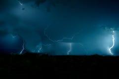 Magischer Sturm nachts Lizenzfreies Stockbild