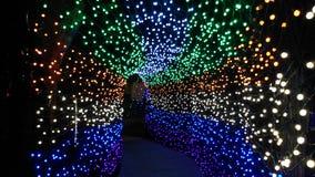 Magischer Tunnel von Lichtern Stockbilder