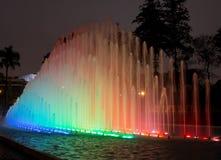 Magischer Wasser-Kreisläuf im Vorbehalt-Park Lima Peru Stockfoto