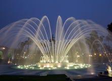 Magischer Wasser-Kreisläuf im Vorbehalt-Park Lima Peru Stockfotografie