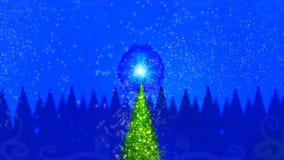 Magischer Weihnachtsbaum Stockbilder