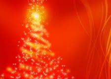 Magischer Weihnachtsbaum Stockfoto