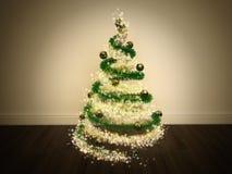 Magischer Weihnachtsbaum verziert vektor abbildung
