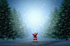 Magischer Weihnachtshintergrund Stockfotos