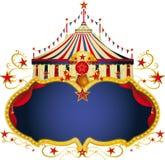 Magischer Zirkusblaurahmen stock abbildung