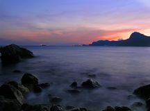 Magisches Abend Meer Stockbilder