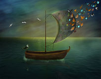 Magisches Boot Lizenzfreie Stockfotos