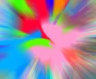 Magisches Farben-Spritzen Stockfoto