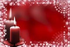 Magisches Feld von den Flocken und von den Kerzen Stockbild
