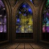 Magisches Fenster in einer Fantasieeinstellung Lizenzfreies Stockfoto
