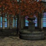 Magisches Fenster in einer Fantasieeinstellung Lizenzfreies Stockbild