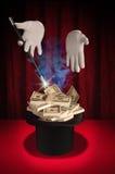 Magisches Geld Stockfoto