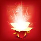 Magisches Geschenkkastenflugblatt lizenzfreie abbildung