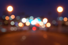 Magisches Glühen verwischt aus Fokushintergrund-Lichteffekt heraus Lizenzfreies Stockbild