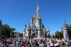 Magisches Königreich-Schloss Disneyworld stockfotografie