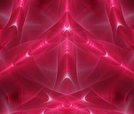 Magisches Rot des abstrakten Fractal Stockfoto