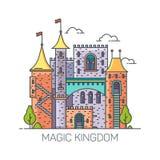 Magisches Schloss von den Märchen, Prinzessinfort lizenzfreie abbildung