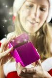 Magisches Weihnachtsgeschenk lizenzfreie stockfotografie