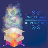 Magisches Weihnachtsgeschenk vektor abbildung