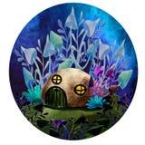 Magisches zwergartiges Haus stock abbildung