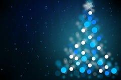 Magisk bakgrund för julnatt Royaltyfria Bilder