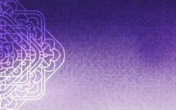 Magisk bakgrund Ultraviolett bakgrund med härliga fyrkantiga prydnader, mandala Arkivbild